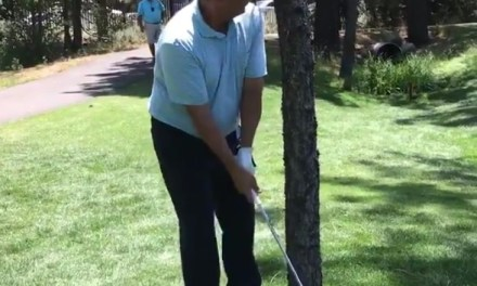 Sean Payton Snapped His Club in Half Attempting a Shot