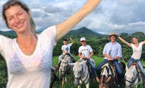 Tom Brady and Gisele Have a Horse Riding Family Vacation - Sports Gossip