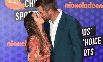 Danica Patrick and Aaron Rodgers Hit Up the Kids' Choice Sports Awards