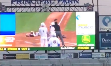 Iowa High School Baseball Game Featured Epic Home Plate Collision