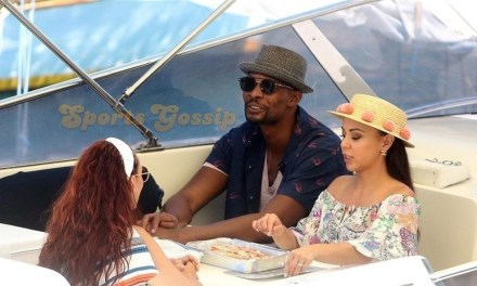 Chris Bosh on Vacation with His Family in Portofino