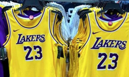 Sporting Goods Store Modell's Leaks New Lakers Uniforms