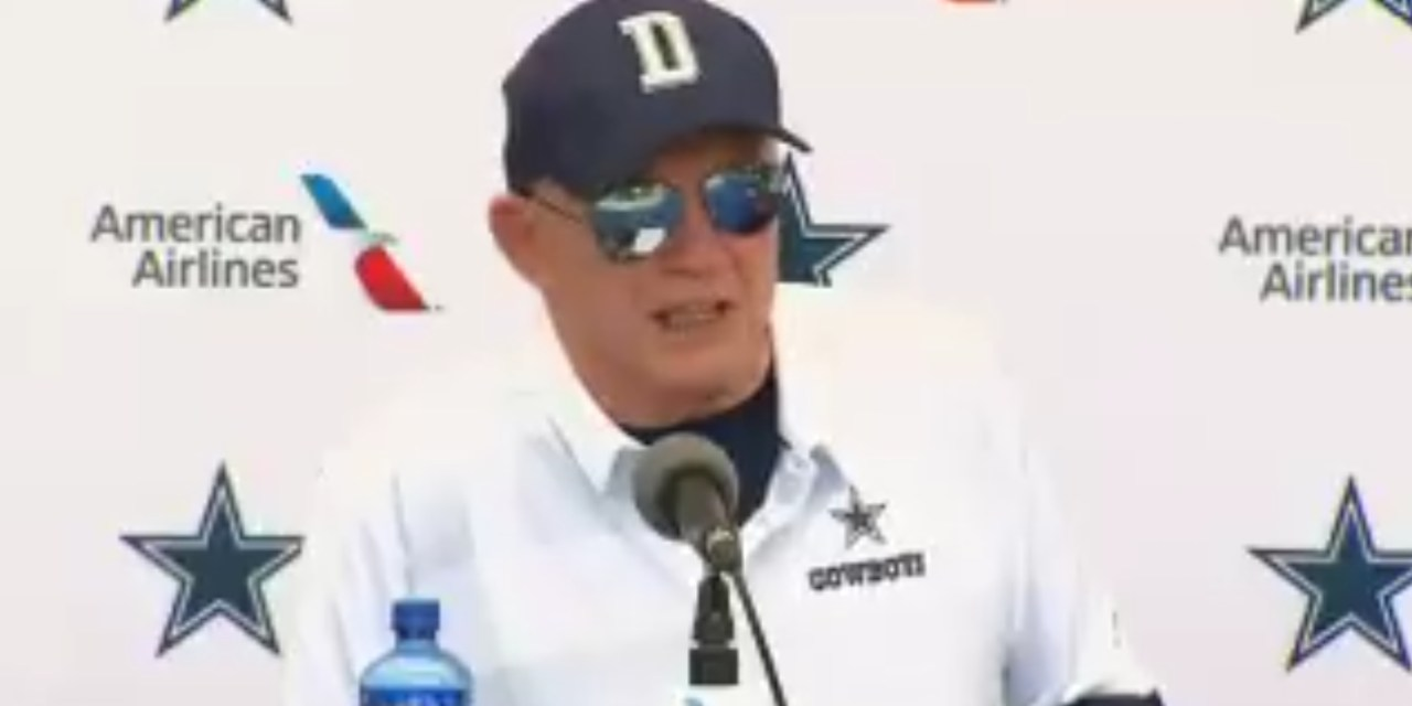 """Jerry Jones Said the Cowboys will Stand for the National Anthem """"Toe on the Line"""""""