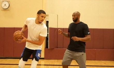 Jayson Tatum Working Out with Kobe Bryant