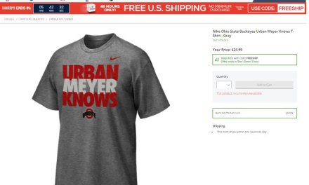 """Urban Meyer Knows"" T-Shirts Sell Out After News that He Knew About Domestic Violence Allegations"
