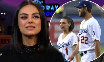 Mila Kunis Got Throwing tips from Dodgers ace Clayton Kershaw