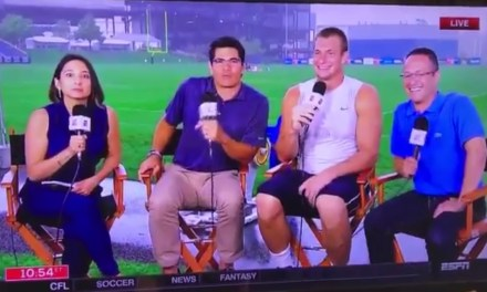 Rob Gronkowski Ends Interview on ESPN after Laugh Out Loud Response to a Question