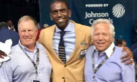 Bill Belichick and Robert Kraft Attended the Hall of Fame Ceremony for Randy Moss