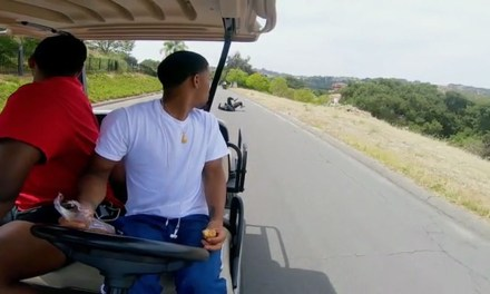 LaMelo Ball Jumps off a Golf Cart For Our Viewing Pleasure