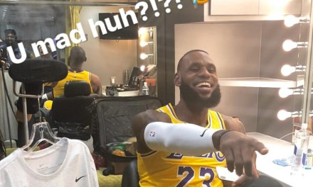 LeBron James Puts on His Lakers Uniform for the First Time
