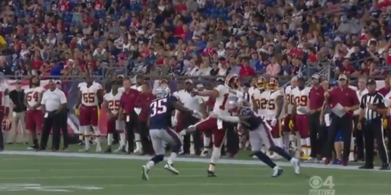 Redskins Receiver Suffers Possible Internal Injury After Big Hit
