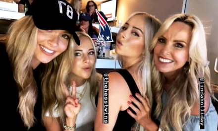 Camille Kostek and Linda Holliday Hung Out at the Patriots Game