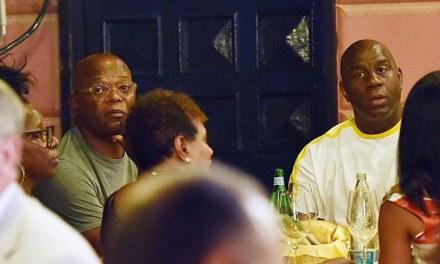 Magic Johnson and Samuel L. Jackson Enjoying their Vacation Together