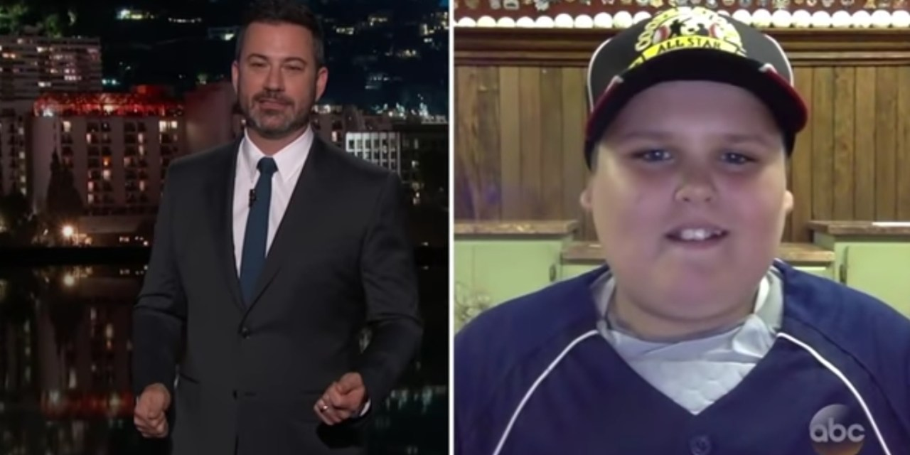 "Big Al the ""Dinger"" Kid from the Little League World Series was on Jimmy Kimmel"