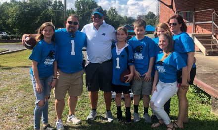 Panthers New Owner Tailgated with Fans Before Preseason Game