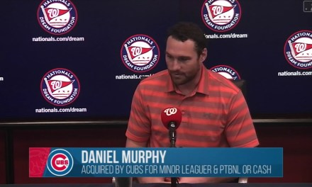 Daniel Murphy Talks About Being Traded to the Cubs