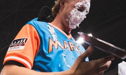 Marlins Reliever Adam Conley Pied Himself in the Face
