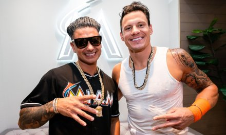 Pauly D Threw Out First Pitch at Marlins Park