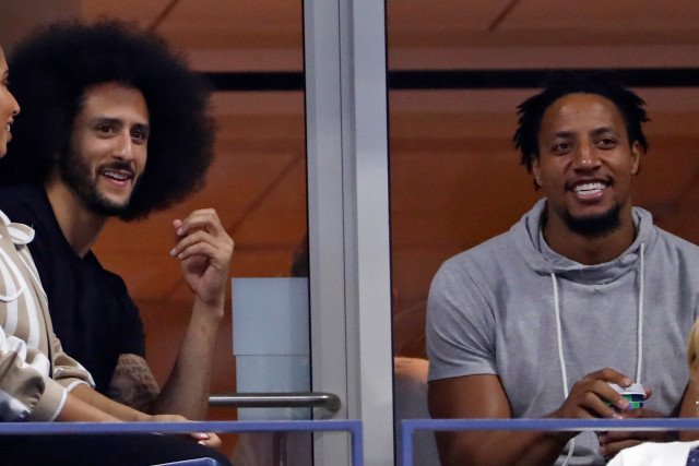 Colin Kaepernick and Eric Reid Received a Warm Welcome from the Crowd at the US Open