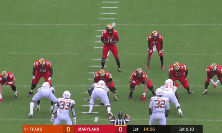 Maryland Lined Up Without a Right Guard on Their First Play to Honor Jordan McNair