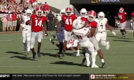 Georgia Running Back James Cook Ejected for Targeting on a Punt Return