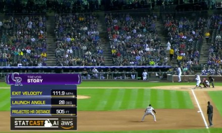Trevor Story Hit Three Home Runs, Including a 505 Foot Bomb