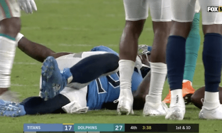 Titans Tight End Delanie Walker Suffered a Season Ending Dislocated Ankle in Loss to Dolphins