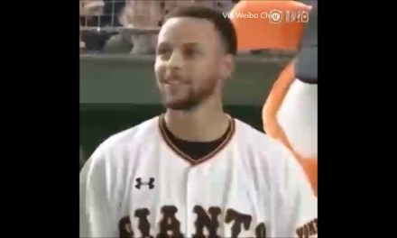 Stephen Curry Threw Out first pitch at Tokyo Giants Game