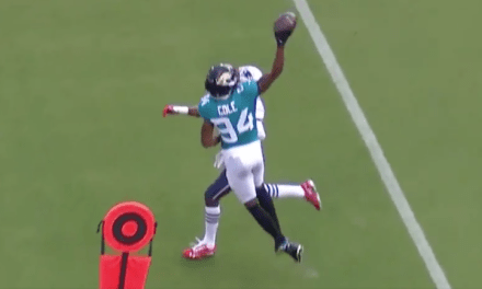 Jaguars Receiver Made an Absurd One Handed Catch in Win Over the Patriots