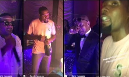 Kevin Durant Rapping with DIPSET Jim Jones and Camron During Birthday Bash