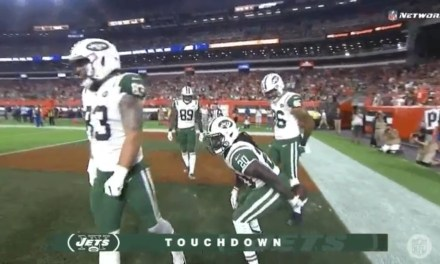 Jets RB Isaiah Crowell Hit with Penalty for Wiping His Butt with the Football after TD