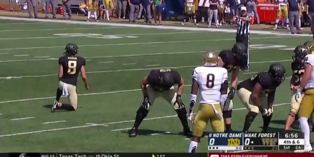 Wake Forest Kicker Forgets to Take the Field then Misses Field Goal Attempt