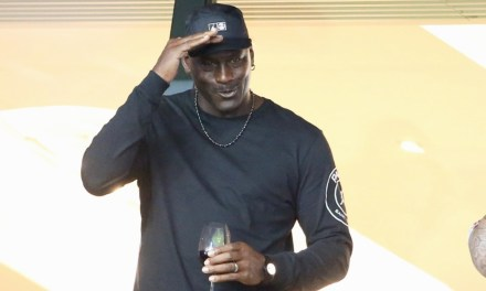Michael Jordan Takes in PSG match, Presented With No. 23 Jersey