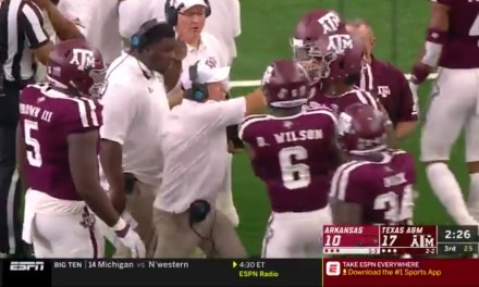 Jimbo Fisher Lost It on One of His Players and Grabbed Him By the Facemask