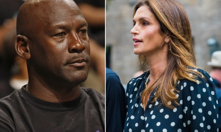 Michael Jordan Hangs with Cindy Crawford in Paris