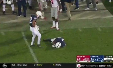 Ohio State's Isaiah Pryor was Ejected after Knocked Out Penn State Receiver K.J. Hamler with a Shot to the Head