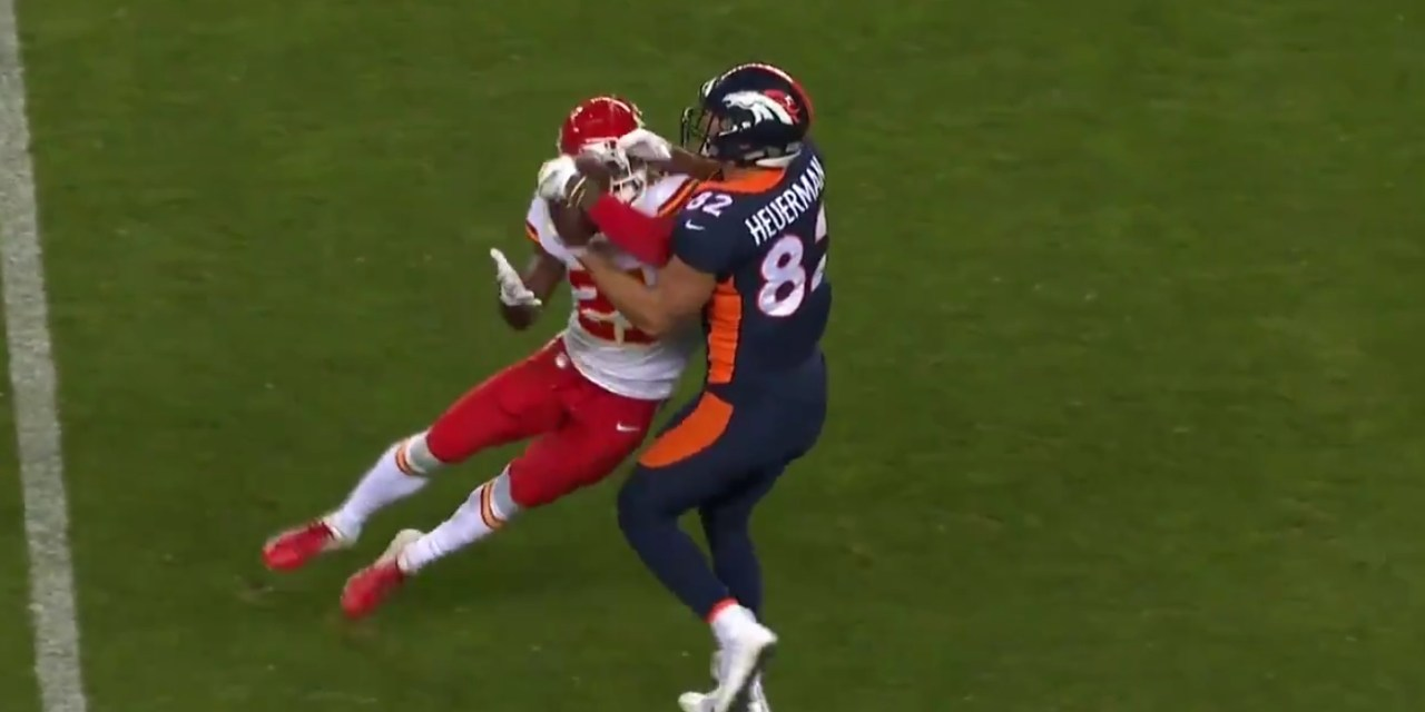 Chiefs Defensive Back Eric Murray Pulled Off a No-Look Interception