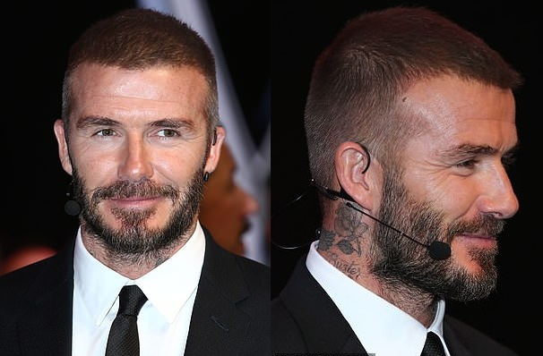 David Beckham Continues to Display his Much Thicker and Darker Hair