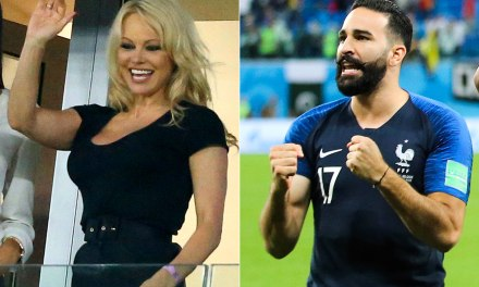 Soccer Player Adil Rami and Pamela Anderson Very Much Together