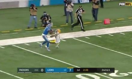 Lions WR Kenny Golloday Put an Epic Stiff-Arm on Packers DB Haha Clinton-Dix