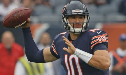 Mitchell Trubisky Sticking with the Arm sleeve  After 6-TD Game