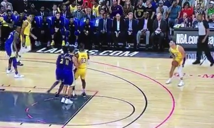 Lonzo Ball's Teammate Trolls Him for Airballing His First Three Point Attempt of the Year