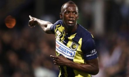 Usain Bolt Scores Twice in Central Coast Trial Game