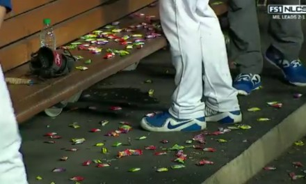 Dodgers Pitcher Rich Hill Wasn't Happy with His Departure in Game 4 and Took it Out on the Candy