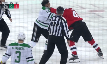 Jamie Benn and Miles Wood Traded Huge Haymakers in the Best NHL Fight in Years