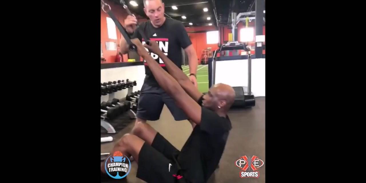 Lamar Odom Back in the Gym Training