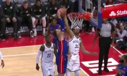 Jarrett Allen Stuffed a Blake Griffin Monster Dunk Attempt