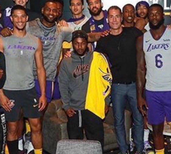 Lakers Host Kendrick Lamar as Part of 'Genius Series'
