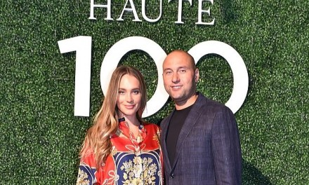 Derek Jeter and his Pregnant Wife Hannah Hit up Haute 100 Bash