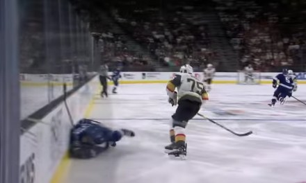 Ryan Reaves Sent Victor Hedman to the Locker Room with a Huge Open-Ice Hit